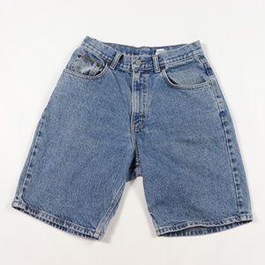 Vintage Calvin Klein Spell Out Denim Jean Shorts